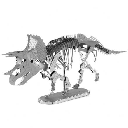 Metal Earth Dinosaur Model Kit Triceratops Skeleton